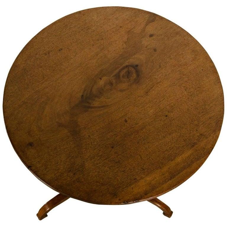 Antique English Regency Sheraton Style Mahogany Table, circa 1820 For Sale