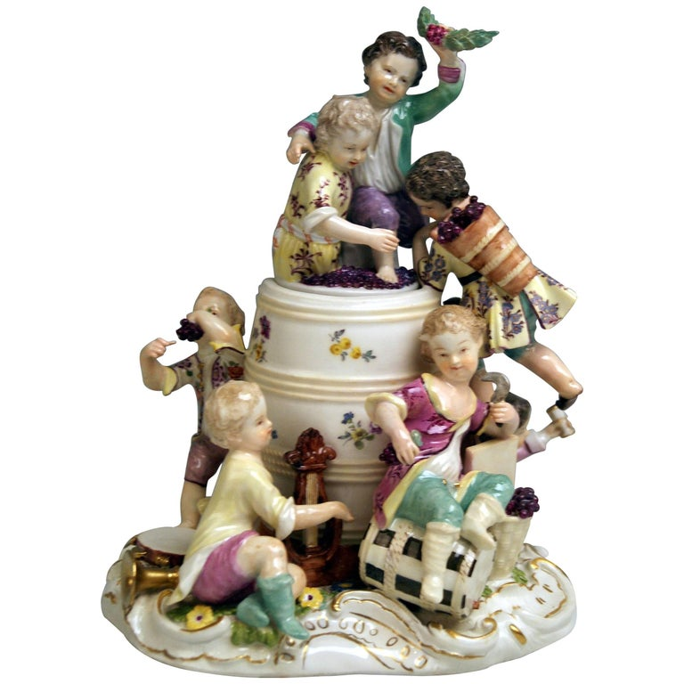 Meissen Gardener Children Wine-Growers Model 1239 Kaendler Rococo Made, 1760