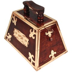 Highly Decorative Mahogany Turkish Art Nouveau Period Shoe Shine Box
