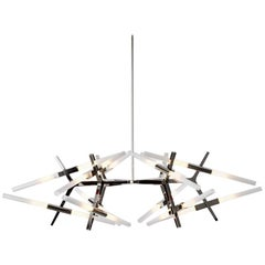 Lindsey Adelman x Roll and Hill Polished Nickel Astral Agnes 03 - 24 Chandelier