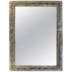 Rectangular Venetian Glass Mirror, circa 1940