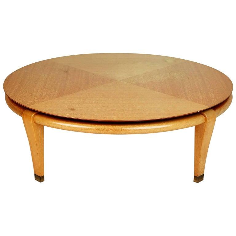 Paul Laszlo for Brown Saltman Round Coffee Table, Model 145, circa 1950 For Sale