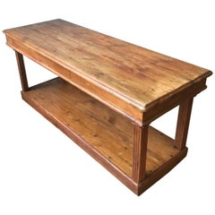 19th Century French Pine Drapers Table
