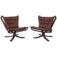 Pair of Danish Leather Easy Chairs