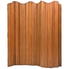 Oregon Pine Folding Screen Designed by Jomaine Baumann