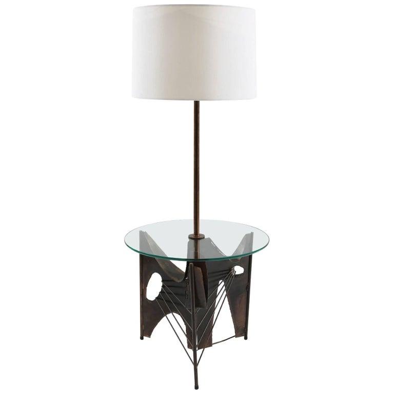 Harry Balmer Laurel Brutalist Floor Lamp