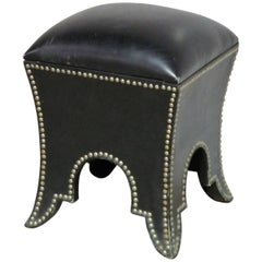 Dorothy Draper Regency Style Studded Stool