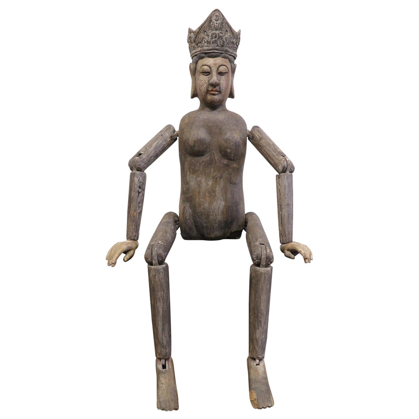 19th Century Buddha Quan Yin Figure