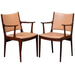 1960s Johannes Andersen Danish Armchairs in Rosewood and Leather, Uldum Mobel