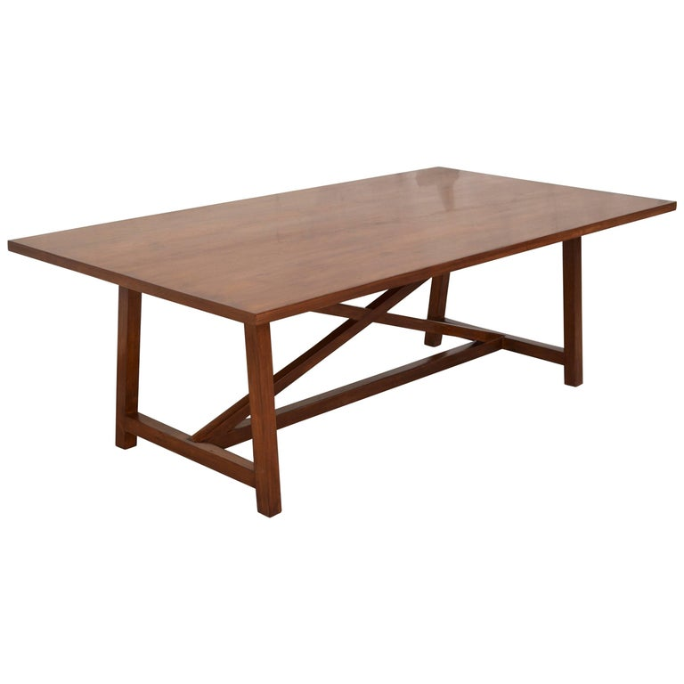 Dining Table in Walnut with Extensions, Made to Order by Petersen Antiques For Sale