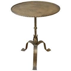 20th Century Spanish Metal Side Table