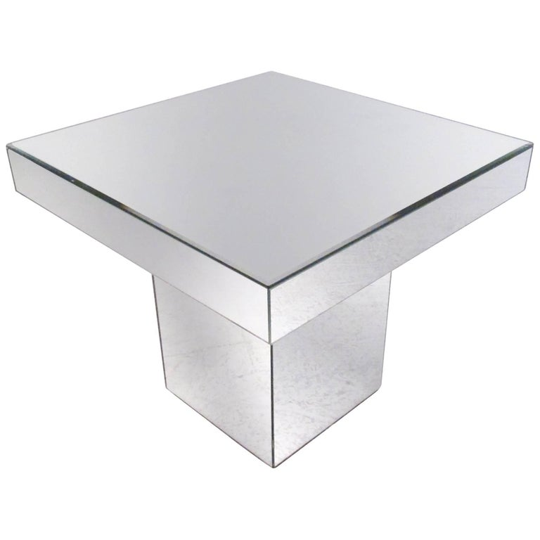 Vintage Modern Mirrored End Table