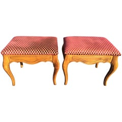 Pair of Ethan Allen Style Stools