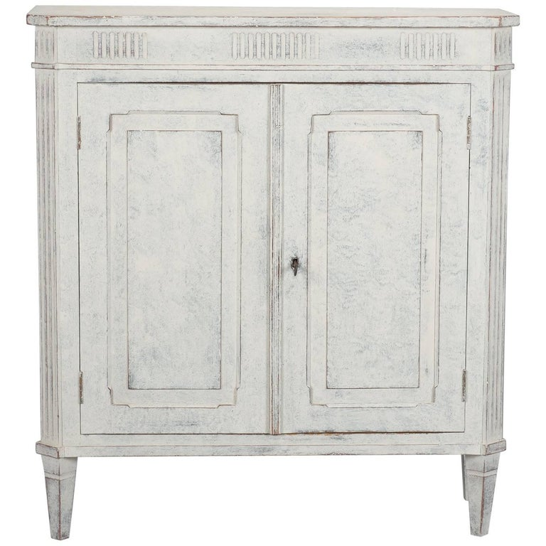 French white with blue gray undertones two door cabinet for White french doors for sale