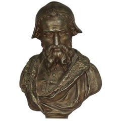 Bronze Bust of Michelangelo by Emille Guillemin, Late 19th Century