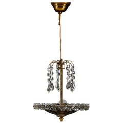Midcentury Glass Chandelier