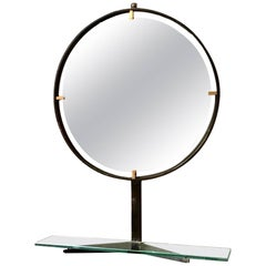 Vintage Italian Mirror with Shelf