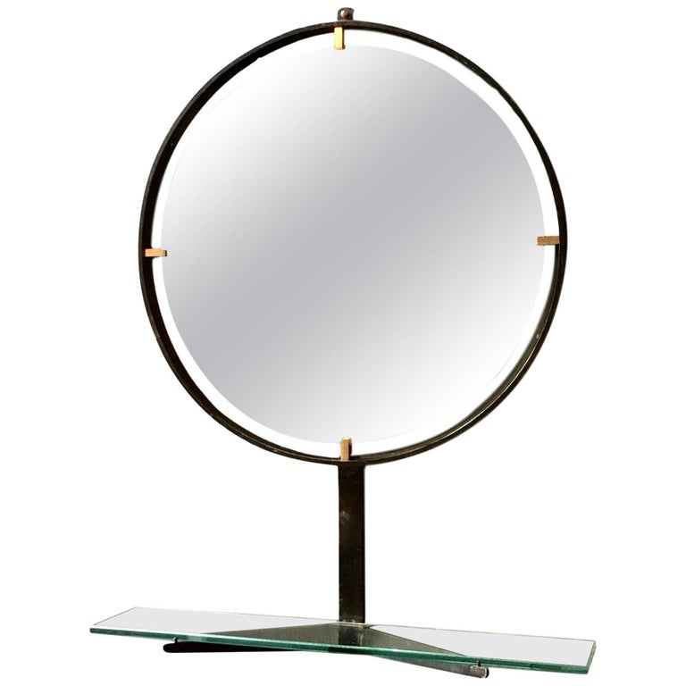 Vintage Italian Mirror with Shelf