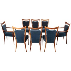Set of Eight Dining Chairs by Melchiorre Bega