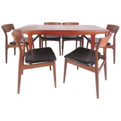 Scandinavian Modern Dining Set by Arne Hovmand Olsen for Møgens Kold Mobelfabrik