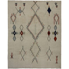 New Contemporary Moroccan Style Area Rug with Modern Tribal Design