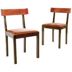 Pair of Swedish Grace Side Chairs Attributed to Axel Einar Hjorth