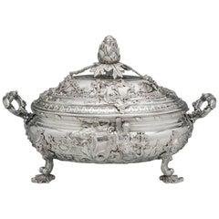 George II English Silver Soup Tureen