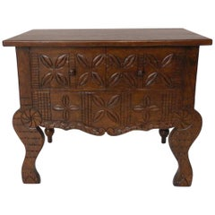 Dos Gallos Custom Carved Console Table/Vanity