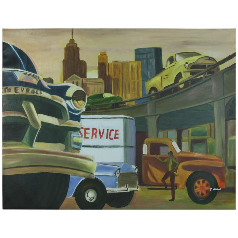 Pop Art Freeway Painting For Sale