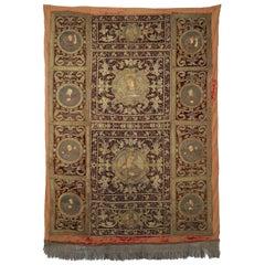 18th Century Italian Metallic Embroidered Tapestry