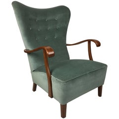 Exceptional Danish Wing Chair