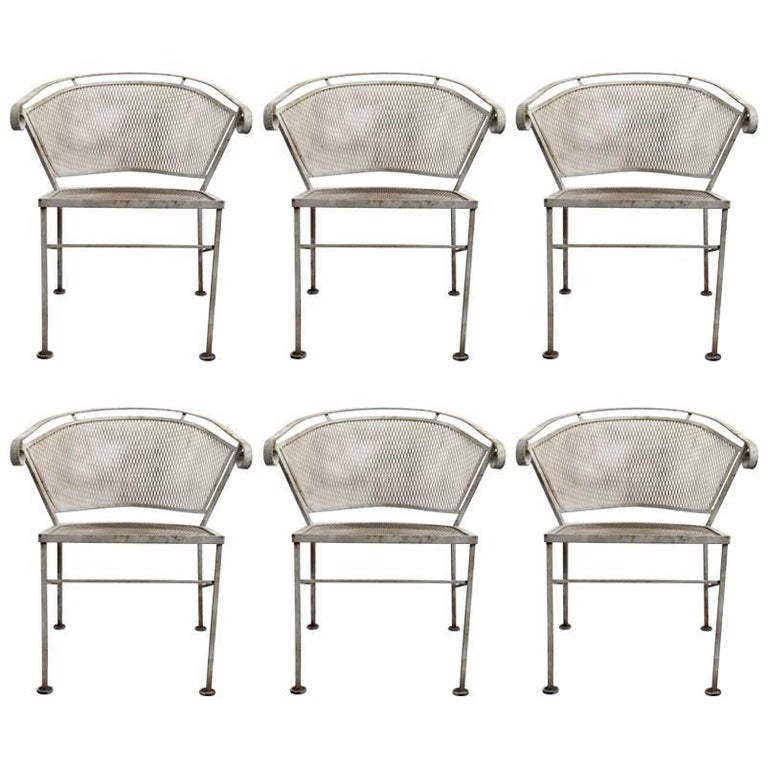 Set of Six Woodard Dining Chairs