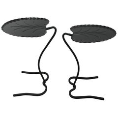 Pair of Salterni Lily Pad Tables in Black