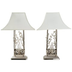 Pair of Chinese Figural Lamps in the Manner of William Haines