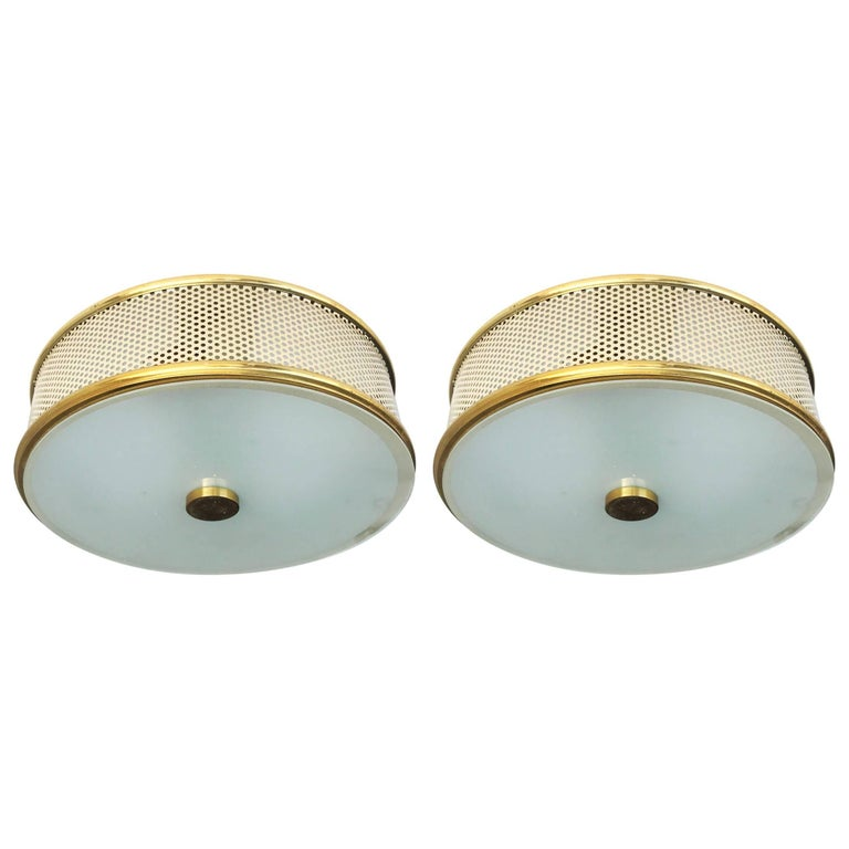 Pair of Pierre Guariche Style Flush Mount