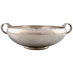 Evald Nielsen, Art Deco Large Sterling Silver Bowl