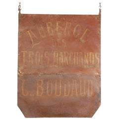19th Century French Hand-Painted Auberge Trade Sign