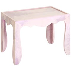 Trocadero Lacquered Goatskin Accent Table in Amethyst
