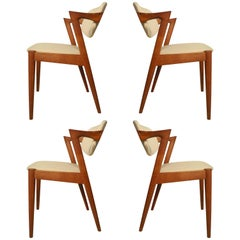 "Kai Kristiansen Model 42 ""Z"" Teak Dining Chairs"