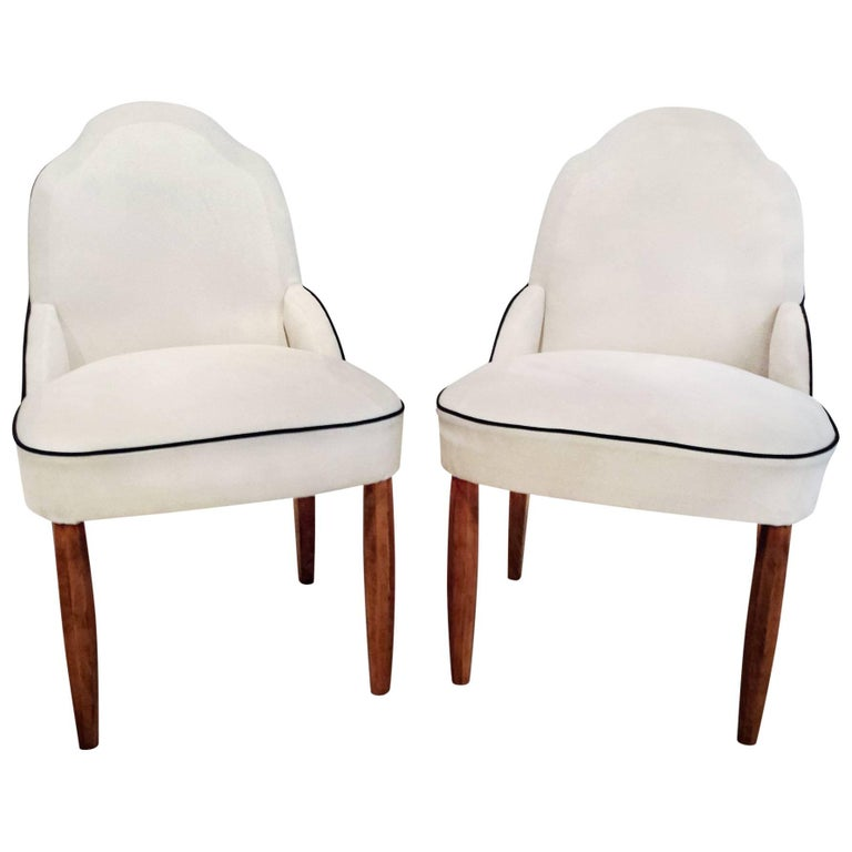 Pair of French Art Deco Side Chairs