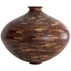 Contemporary American Wooden Vessel, Walnut, Handmade, Available Now
