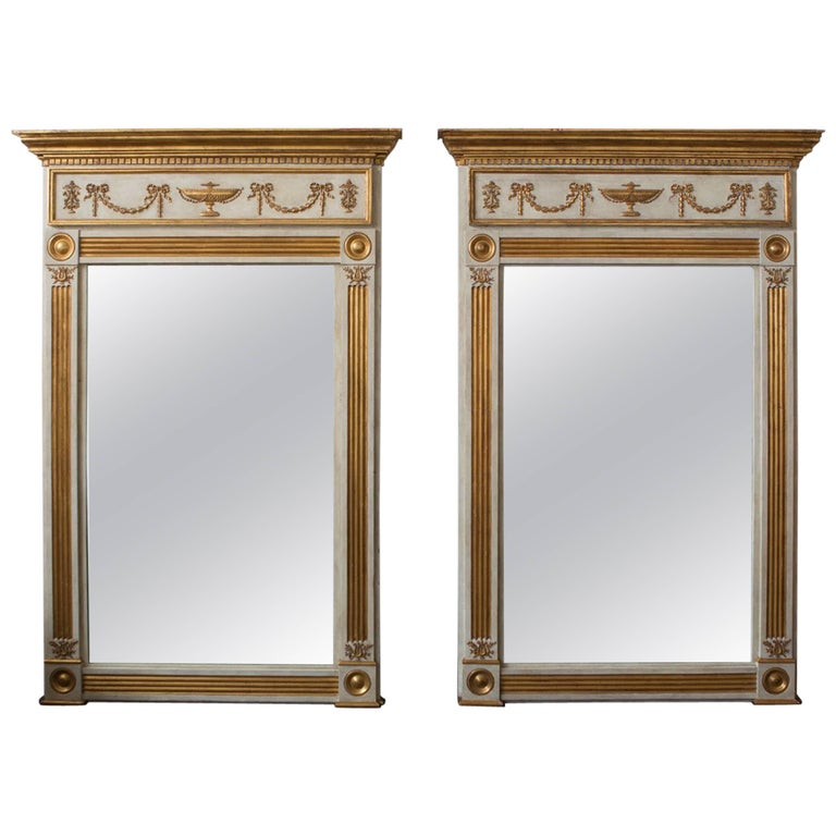 Monumental Pair of Neoclassical French Mirrors