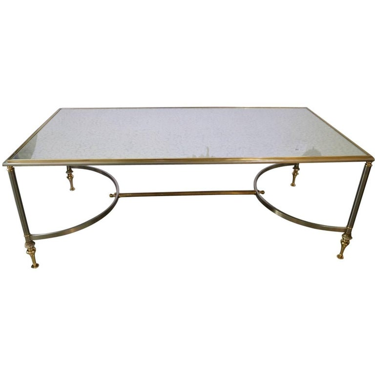 Maison Jansen Style Rectangular Cocktail Table Satin