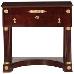 French Empire Ormolu-Mounted Mahogany Dressing Table, circa 1820