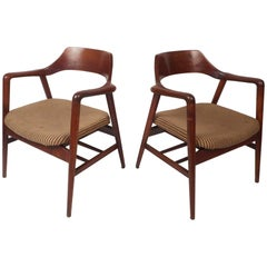 Mid-Century Modern Sculpted Side Chairs by Gunlocke