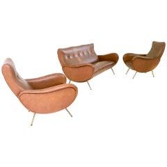 Skai Livingroom Set by Marco Zanuso, Italy, 1950s