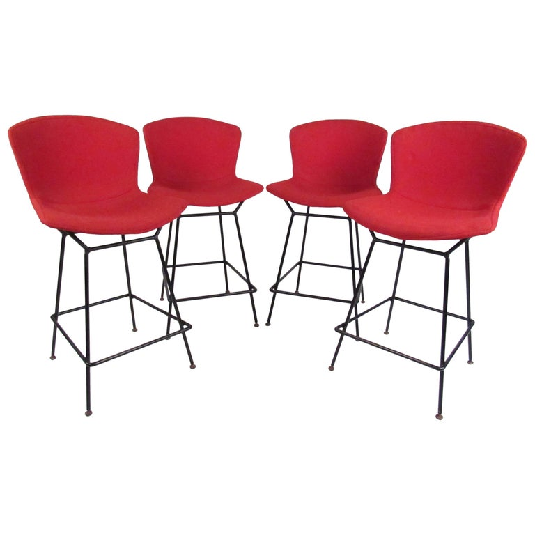 Set of Steel Wire Barstools by Harry Bertoia for Knoll Associates