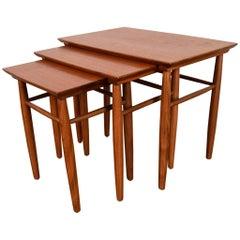 Set of Three Midcentury Danish Teak Nesting Tables