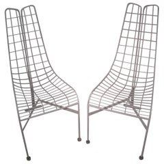 Pair of Vladimir Kagan Midcentury Capricorn Dining Chairs with Original Covers