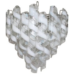 Murano Glass Tiered Chandelier